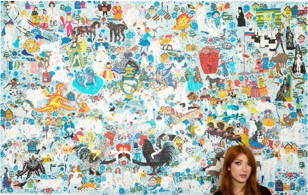 Artist Karina Akopyan with Big Samovar Orgy, 2016
