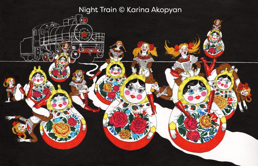 Night Train © Karina Akopyan